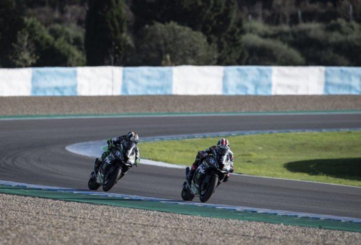 Jonathan Rea e Leon Haslam Test Jerez Superbike>