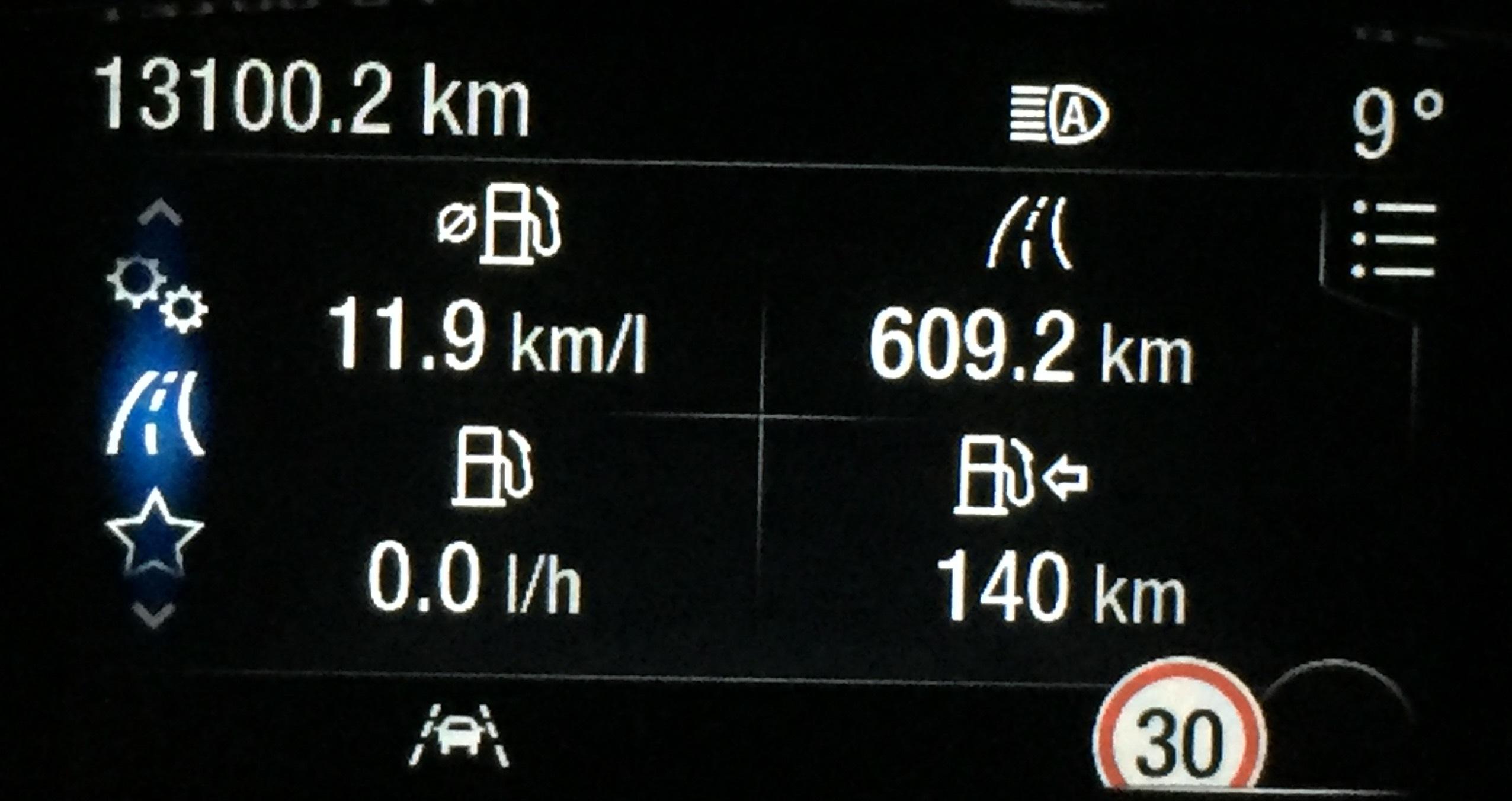 consumi Fiesta ST con guida normale