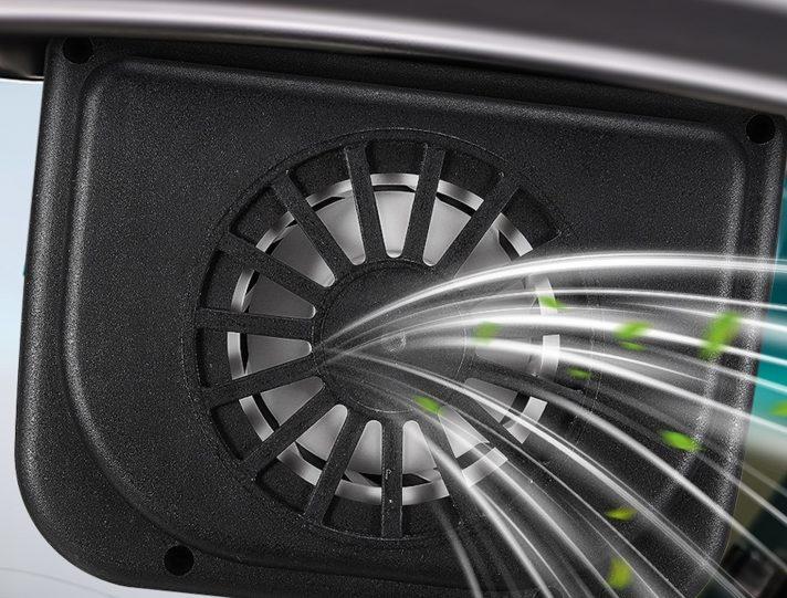 Ventilatore solare per finestrino auto