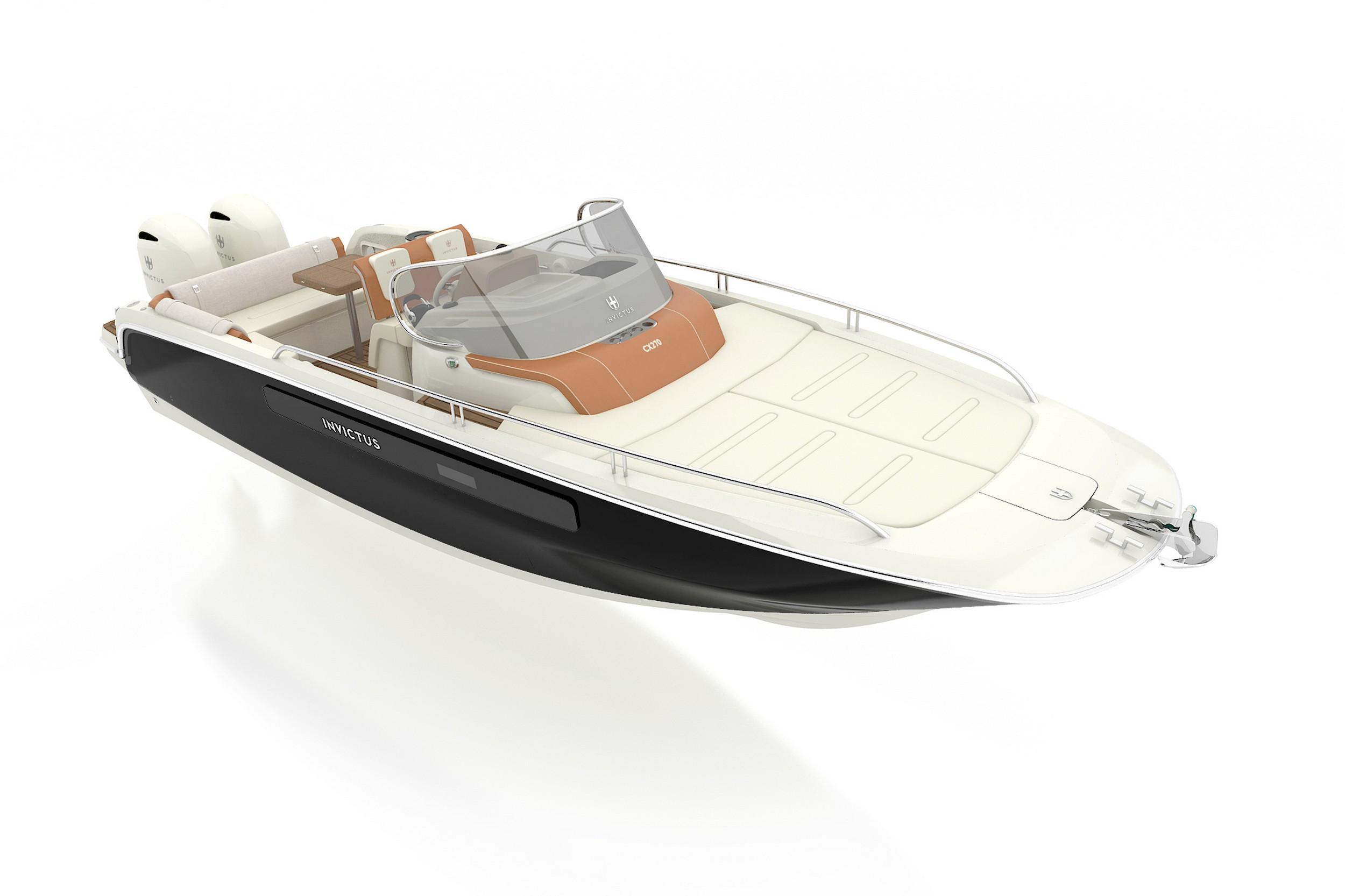 Invictus CX270 | Fuoribordo | 2 motodi da 220 CV | Salone di Cannes