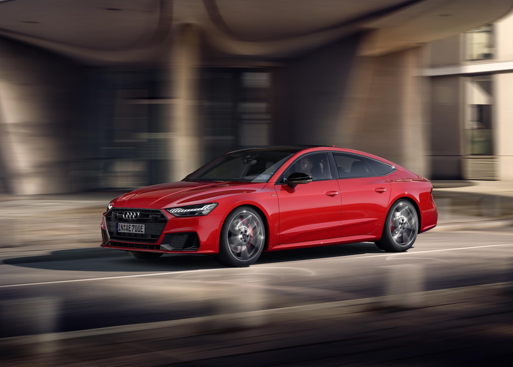 Audi A7 Sportback con il 2.0 TFSI abbinato al motore elettrico