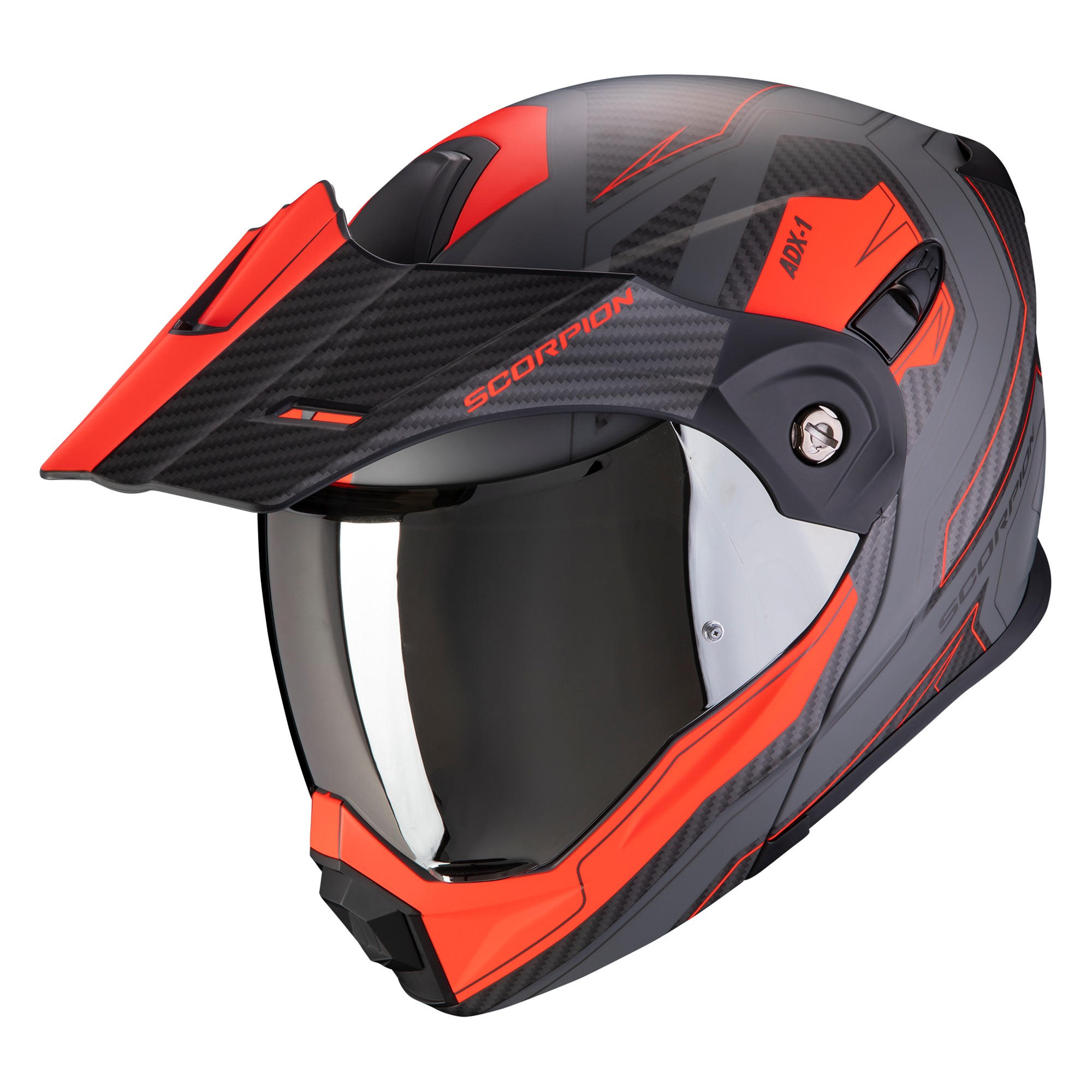 Scorpion casco moto adx-1 battleflage sabbia-grigio xxl
