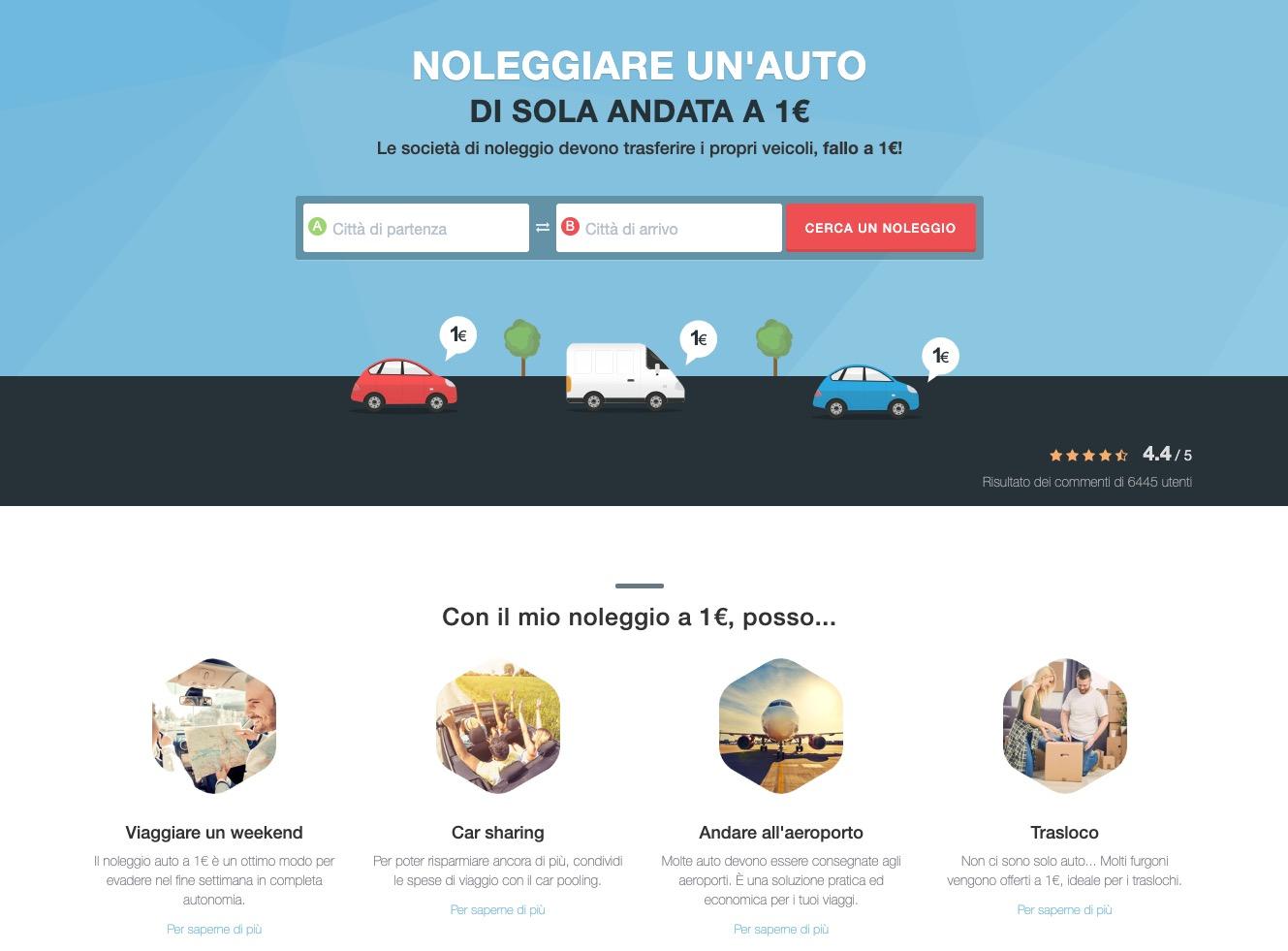 DriiveMe Italia: come funziona il noleggio auto a 1 € per 24 ore