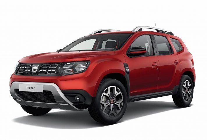 Dacia Duster rossa frontale
