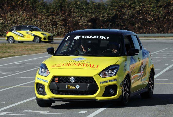 Suzuki Swift Sport frontale gialla
