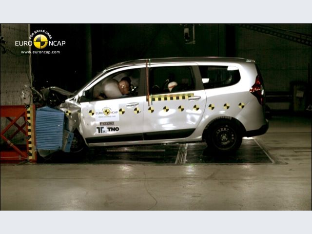 Dacia Lodgy - Crash test frontale