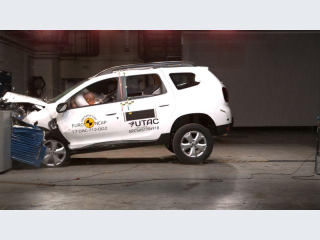 Dacia Duster - Crash test Euro NCAP - crash test offset